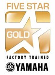 Five-Star Gold Factory-Trained award from Yamaha.